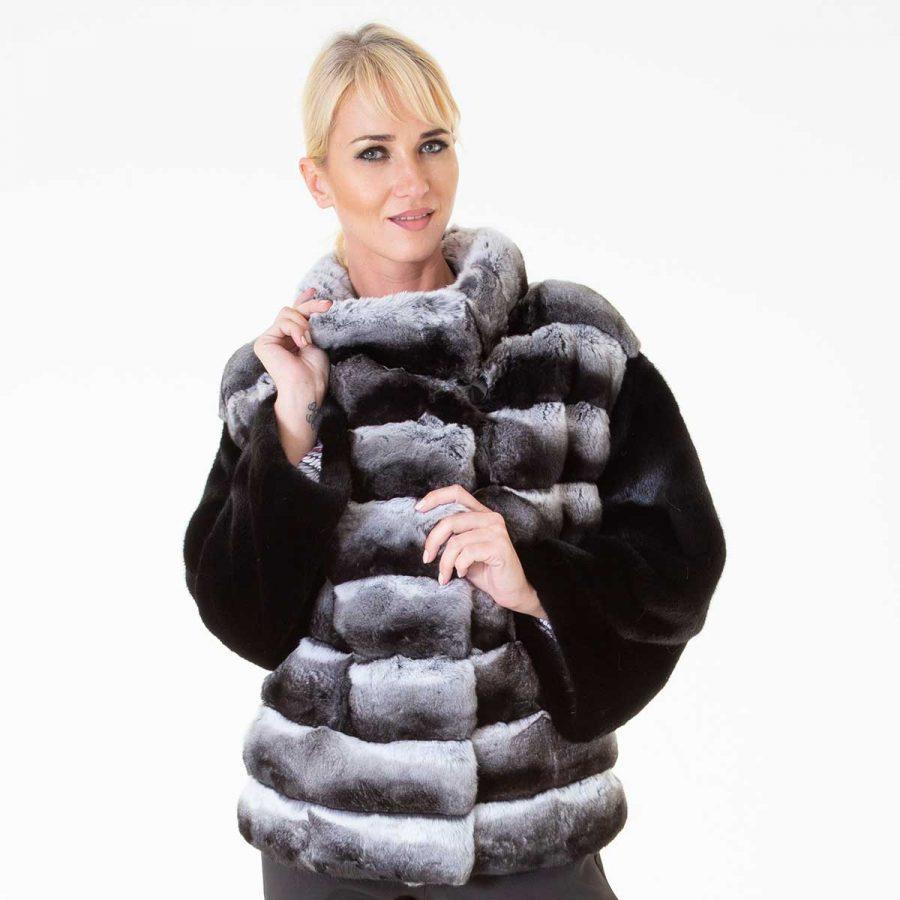 Chinchilla Fur Jacket | Sarigianni Furs