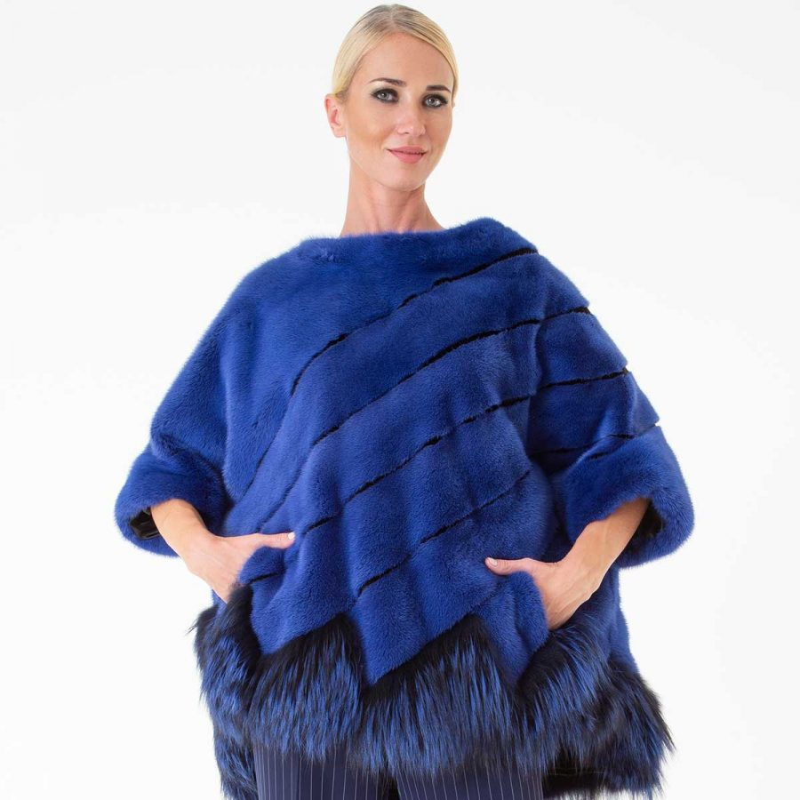 Shock Blue Male Mink Blouse | Sarigianni Furs