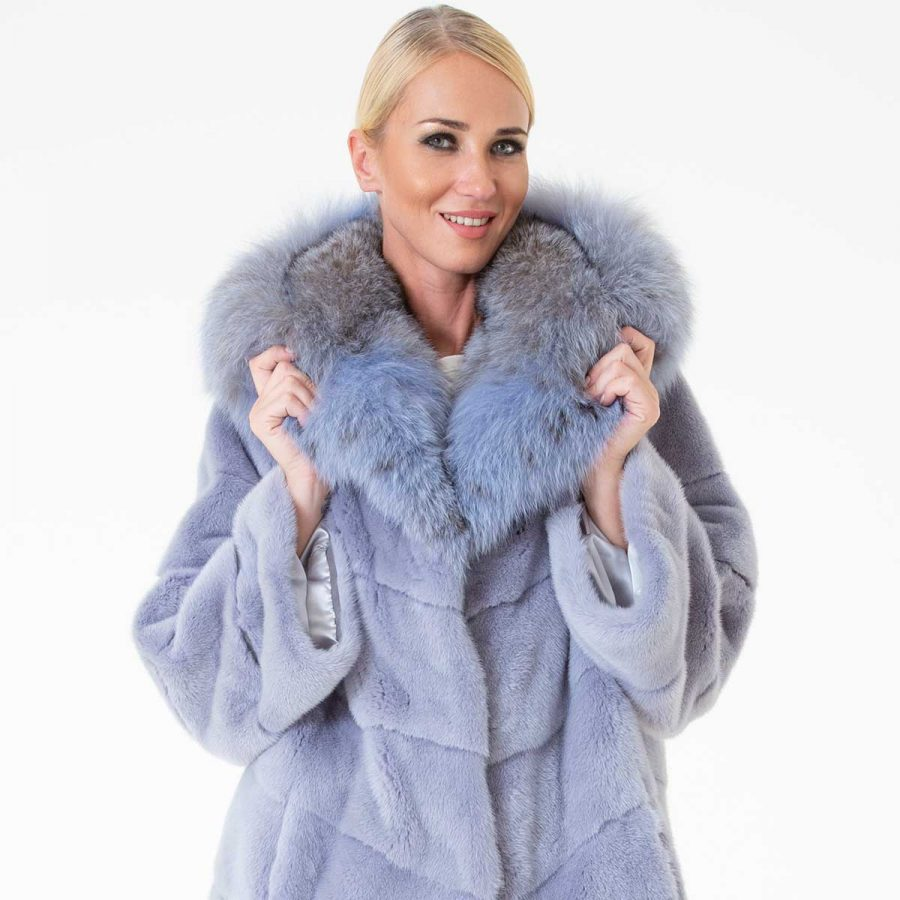 Hydrasia Male Mink Jacket with Hood | Пальто из меха норки с капюшоном - Sarigianni Furs