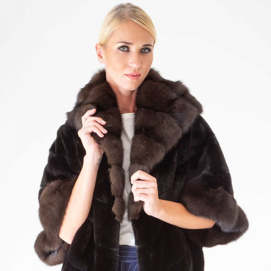 Blackglama Male Mink A.L.C. Coat   Шуба из норки Blackglama с капюшоном - Sarigianni Furs