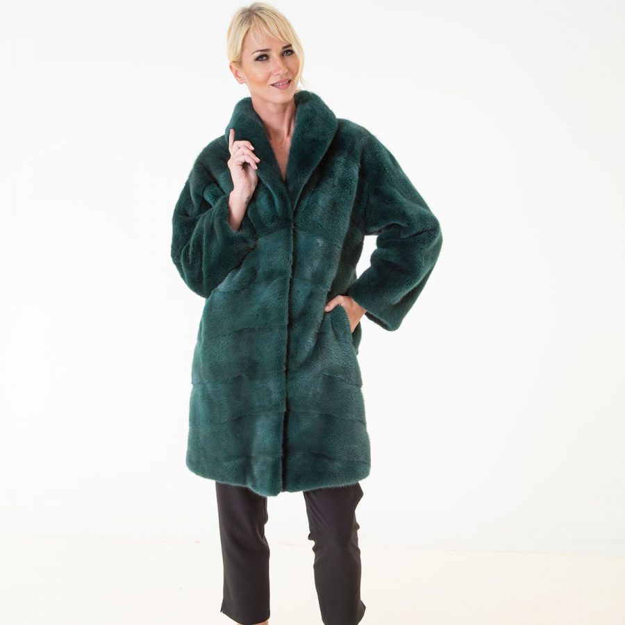 Shock Green Male Mink Farm Jacket | Sarigianni Furs