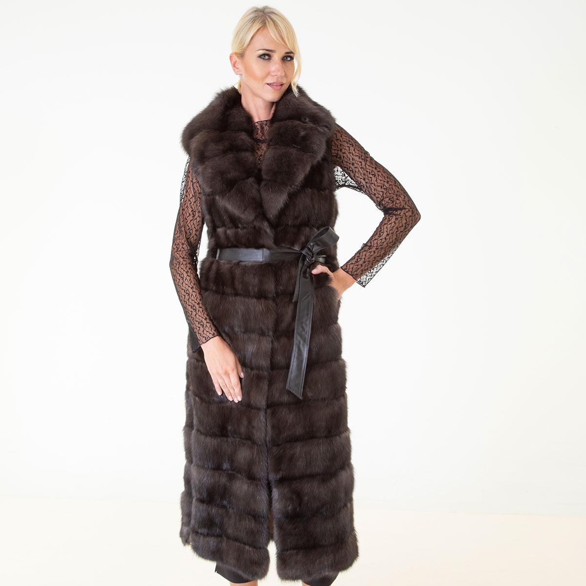 Barguzin Sable Fur Vest   Жилет из меха баргузинского соболя - Sarigianni Furs