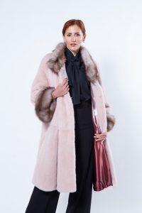 Antique Rose Mink Coat with Marten cuffs | Sarigianni Furs