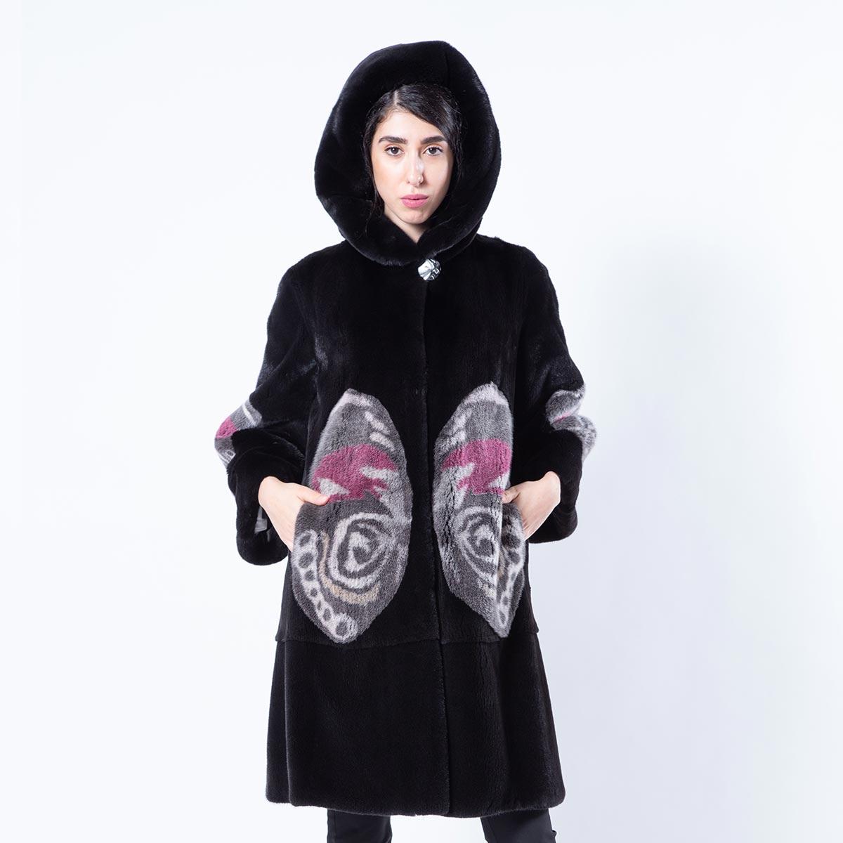 Blackglama Jacket with Butterfly print | Шубы из норки - Sarigianni Furs
