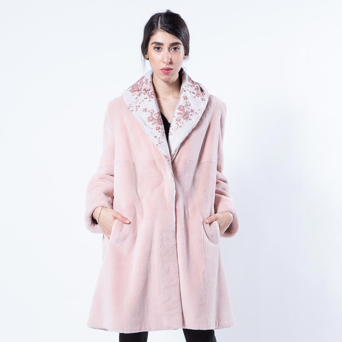 Antique Rose Sheared Mink Jacket | Sarigianni Furs