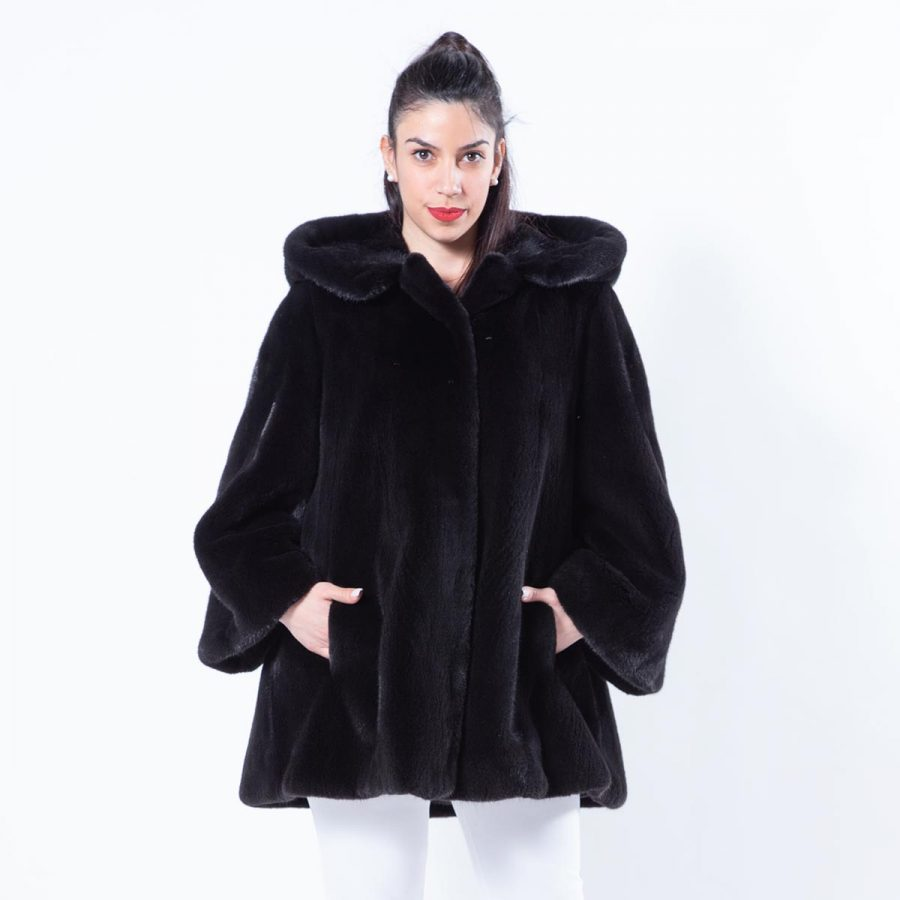 Blackglama Mink Jacket with Hood | Sarigianni Furs
