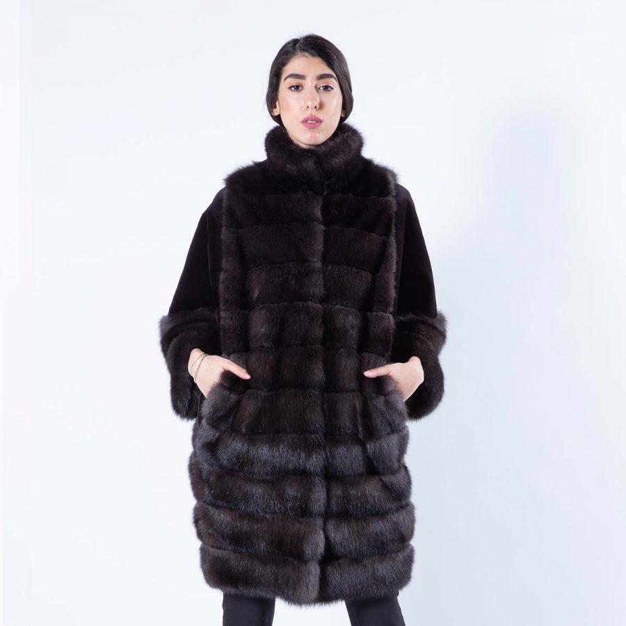 Esmeralda Barguzin Sable Jacket | Пальто Эсмеральда из баргузинского соболя - Sarigianni Furs