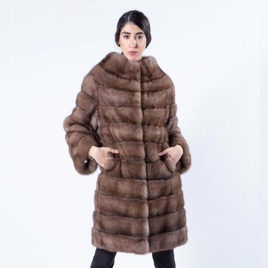 Tortora Sable Fur Coat | Шуба из соболя цвета Tortora - Sarigianni Furs