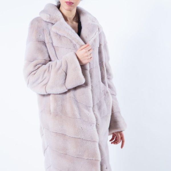 Ivory Mink Fur Coat   Sarigianni Furs