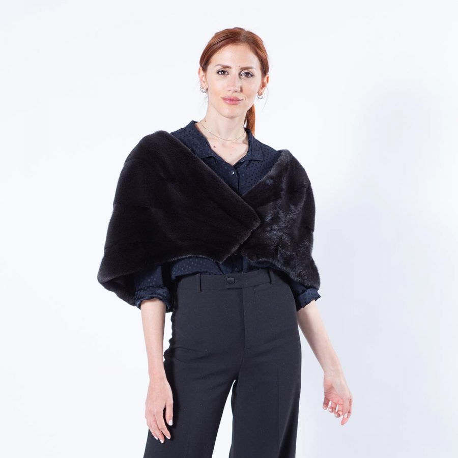 Luxurious Blackglama Mink Fur Stole | Sarigianni Furs