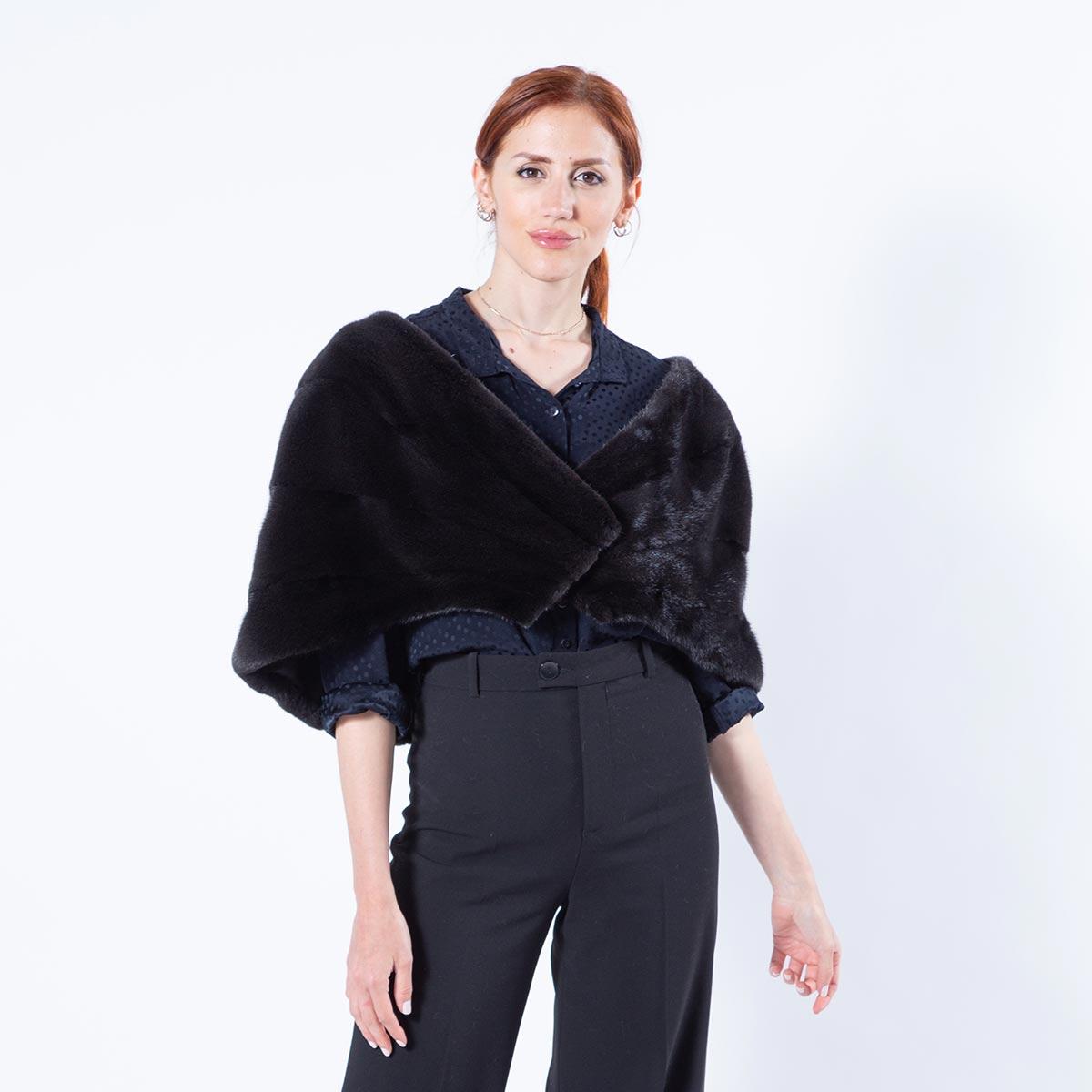 Luxurious Blackglama Mink Fur Stole | Меховой палантин из норки Blackglama - Sarigianni Furs